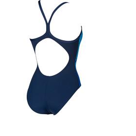 arena Spraypaint Light Drop Back One Piece Swimsuit Dames, blauw